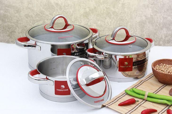 bộ nồi inox dùng cho bếp từ loại nào tốt