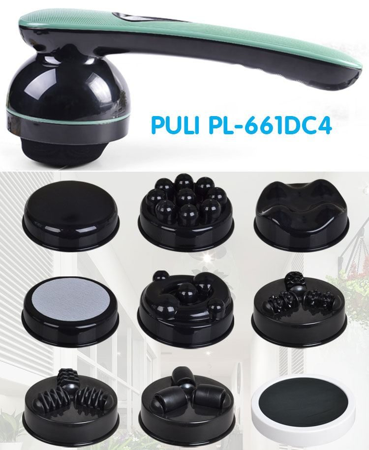 Máy massage cầm tay 8 đầu pin sạc Hàn Quốc PULI PL-661DC4