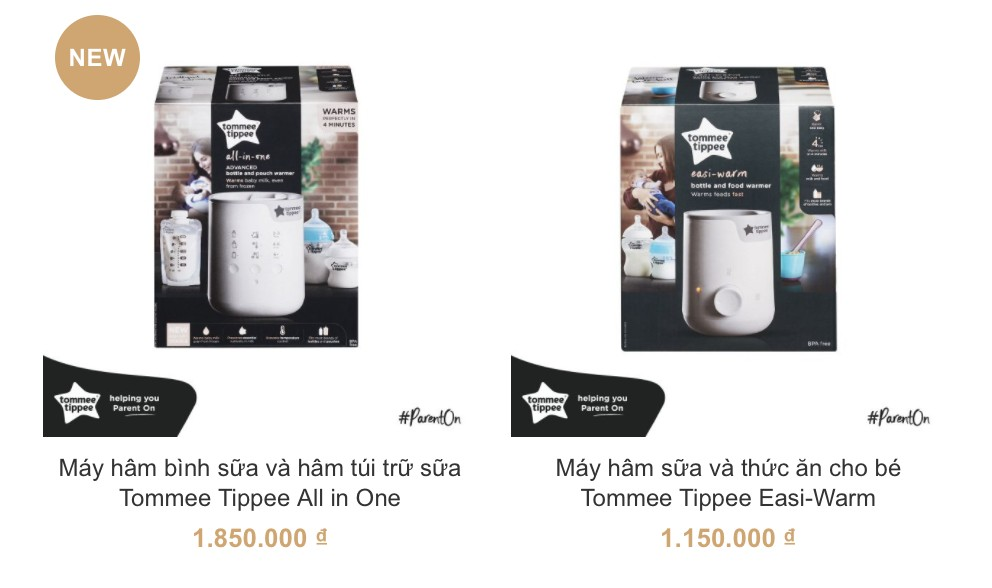 Máy hâm sữa Tommee Tippee cao cấp an toàn cho bé