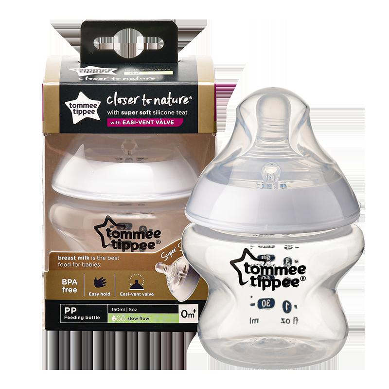 Bình sữa Tommee Tippee ty siêu mềm tự nhiên 150ml