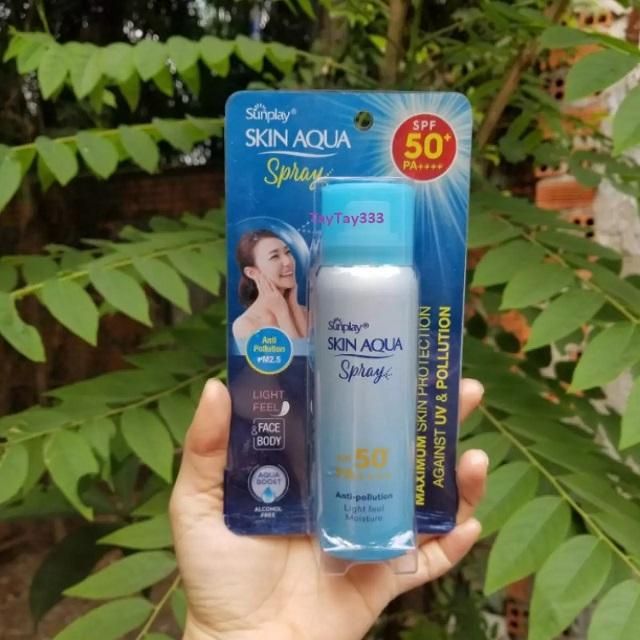 Kem chống nắng Skin Aqua Anti Pollution Spray