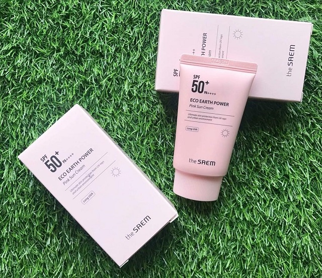 Kem chống nắng The Saem Eco Earth Power Pink Sun Cream