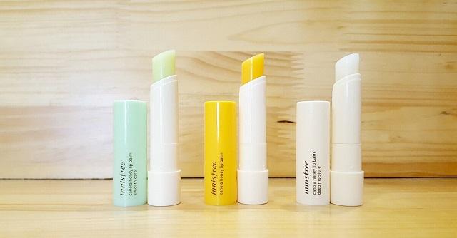 Son dưỡng trị thâm môi Innisfree Canola Honey Lip Balm