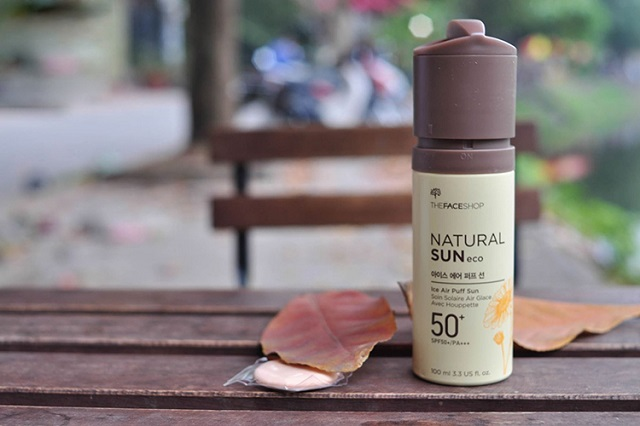 Kem chống nắng The Face Shop Natural Sun Eco Ice Air Puff SunKem chống nắng The Face Shop Natural Sun Eco Ice Air Puff Sun