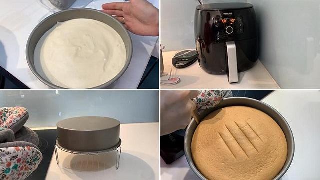 Làm bánh bằng nồi chiên không dầu đơn giản, nhanh chóng